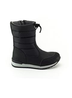 Minipicco Minipicco Kız Cocuk Siyah Deri Ortopedik Desteli Çocuk Çizme